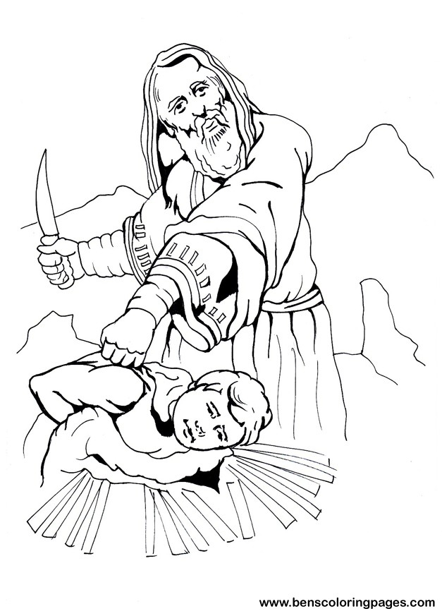 Abraham And Isaac Coloring Page Az Coloring Pages Isaac Coloring Images