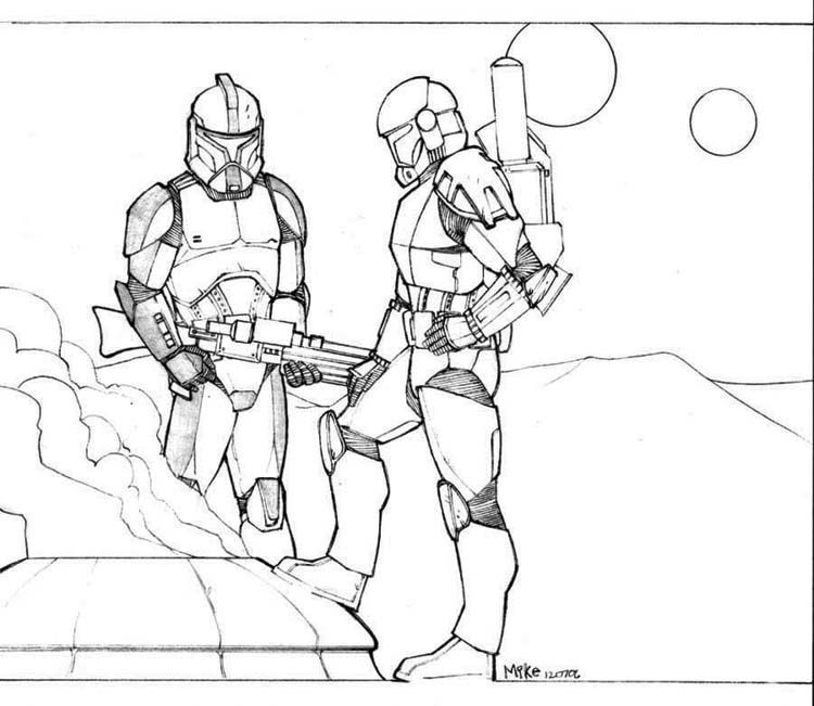 coloring pages and clone wars - photo#9