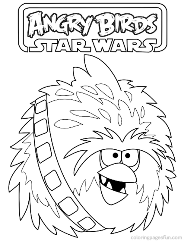 Angry bird star wars coloring pages - photo#39
