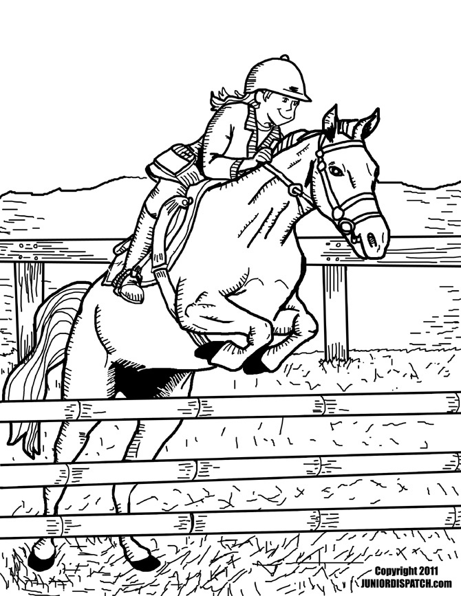 Horse Jumping Coloring Pages - AZ Coloring Pages