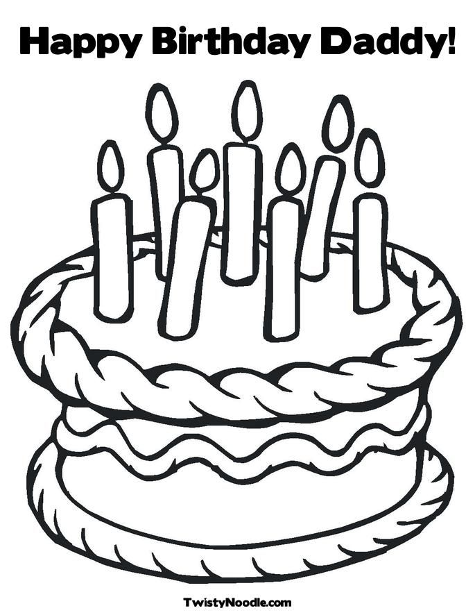 Happy Birthday Daddy Coloring Pages Coloring Home