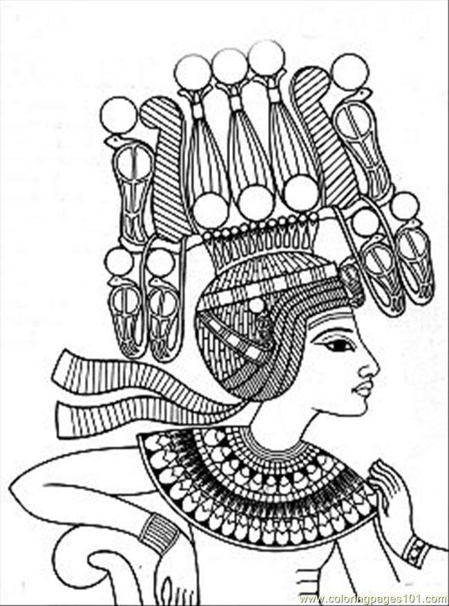 Ancient Egyptian Bird Colouring Pages