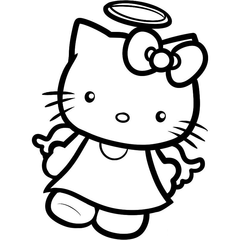 download kids hello kitty coloring pages angel or print kids hello