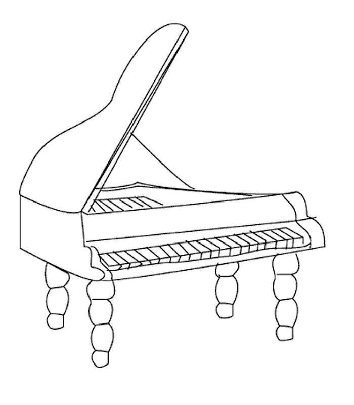 Musical Instrument Coloring Pages Print Out - Coloring Home