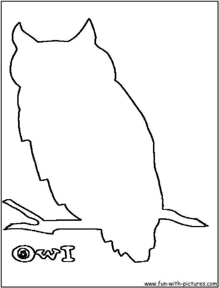 Owl Cut Out Template AZ Coloring