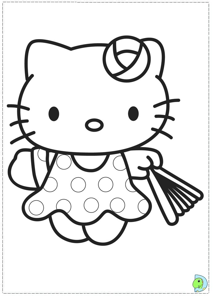 Hello Kitty Hawaiian Coloring Pages : Hello kitty p az coloring pages