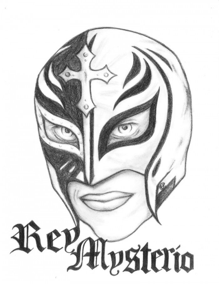 Rey Mysterio Mask Coloring Pages - AZ Coloring Pages