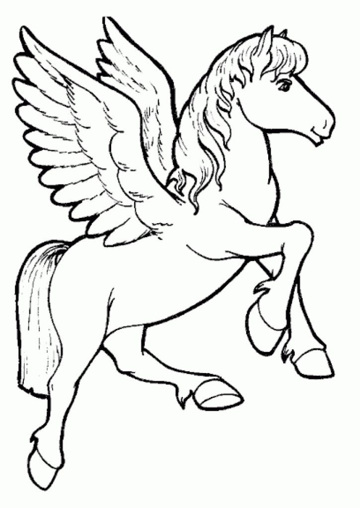 Coloring Pages For Unicorns : Flying unicorn coloring pages home