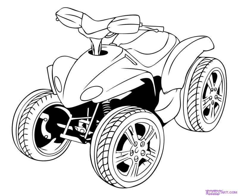 4 Wheeler Coloring Pages Coloring
