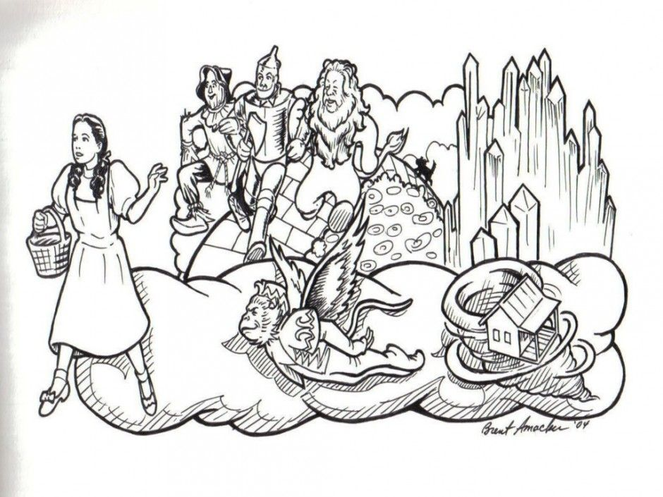 Wizard Of Oz Coloring Pages Free Coloring Home