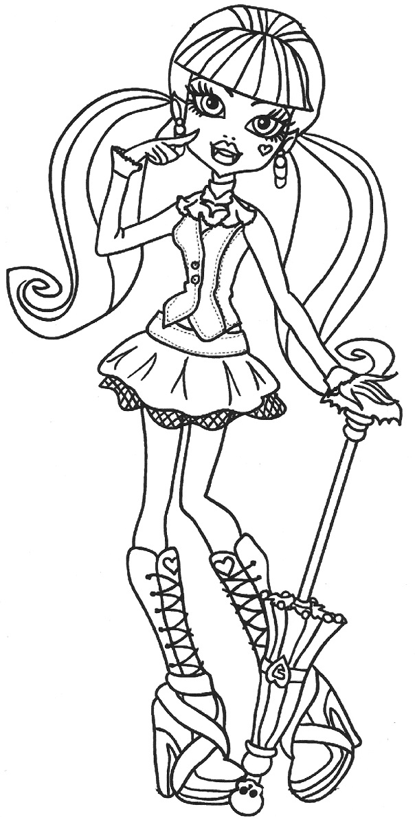 Monster High Draculaura Coloring Pages Az Coloring Pages High Colour Pages