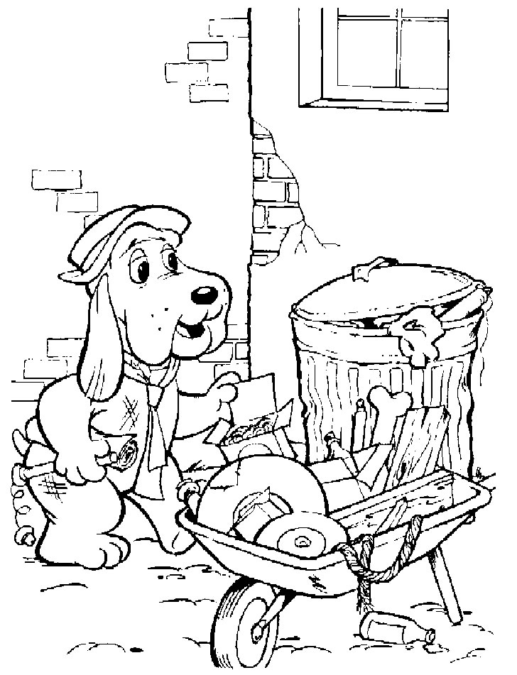 the pound puppies coloring pages - photo#11