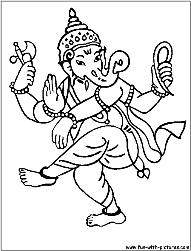 Lord Ganesha Coloring Pages Diwali Sheets Pictures 221397 Hindu