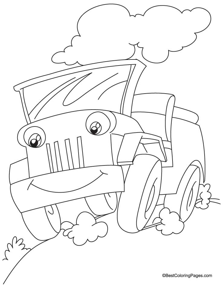 Jeep Coloring Page - Coloring Home