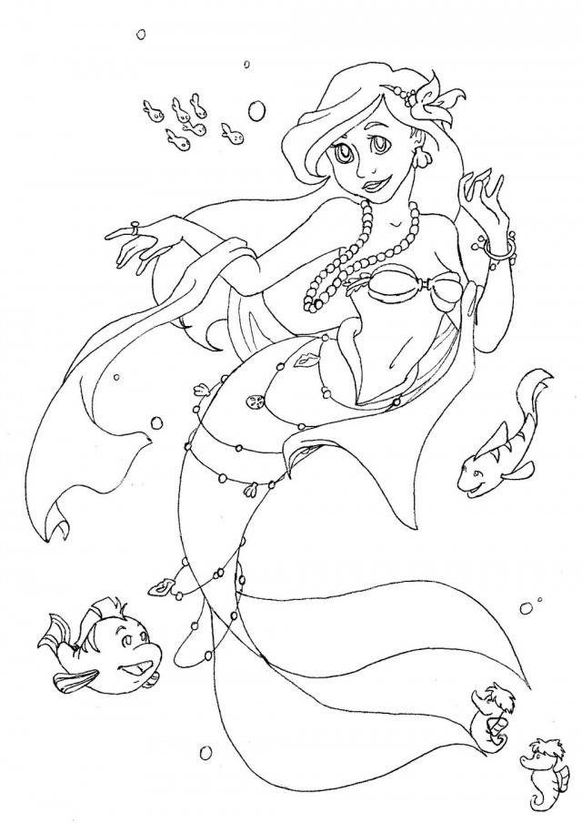 Ariel Coloring Page Arial Coloring Pages Printable Coloring Book