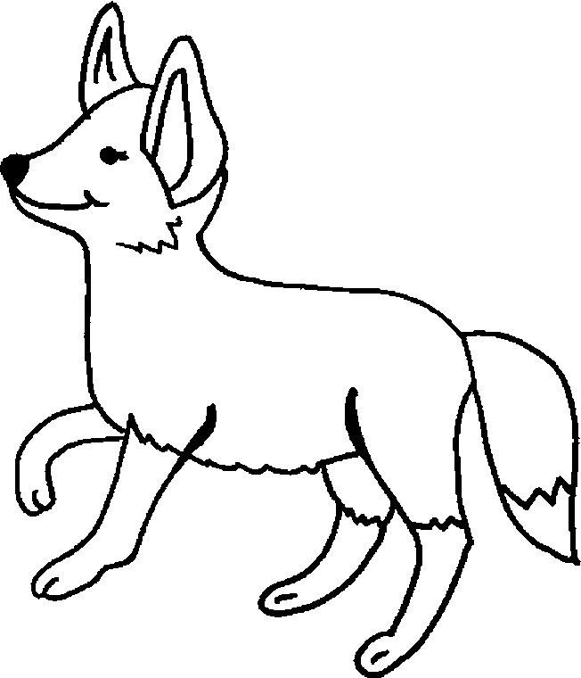 Coloring Pages Of Foxes Coloring Home