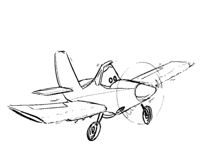 Disney Planes Coloring Pages Ripslinger : Disney s planes coloring page az pages