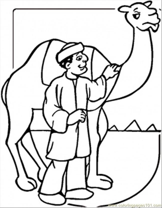 Camel color coloring home for Camel coloring page