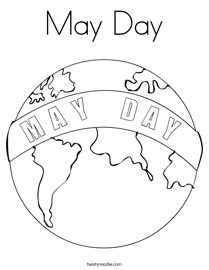 May Day Coloring Pages Coloring Home May Coloring Pages