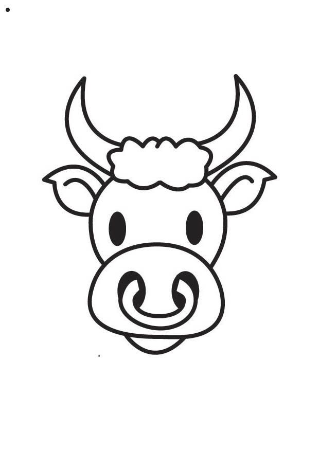 Coloring page Bull's Head - img 17565.
