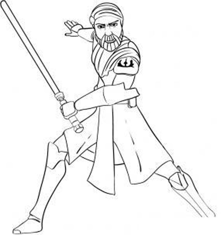 Star Wars The Clone Wars Printable Coloring Pages 53