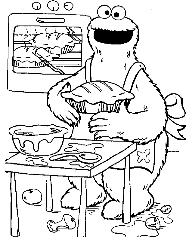cookie monster coloring pages - cookie monster color pages az coloring pages