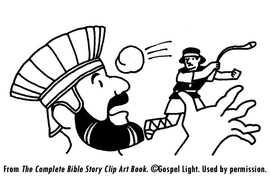David And Goliath Coloring Pages 245