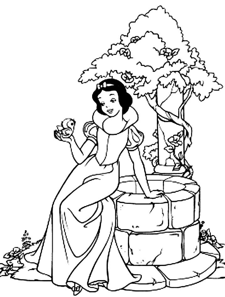Coloring pages snow white and the seven dwarfs - picture 2