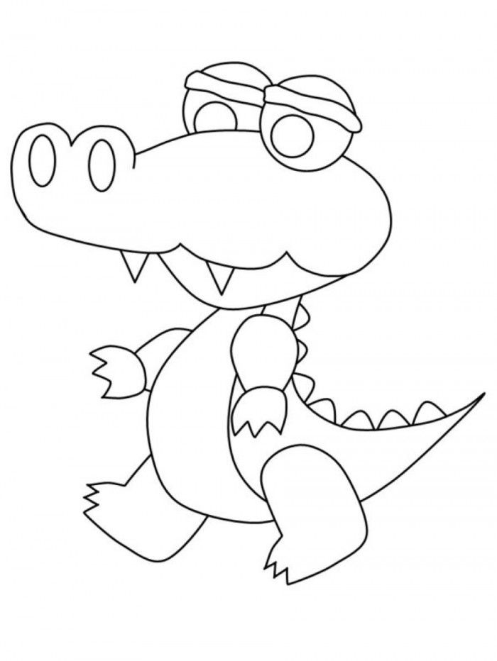 Printable Alligator Coloring Pages