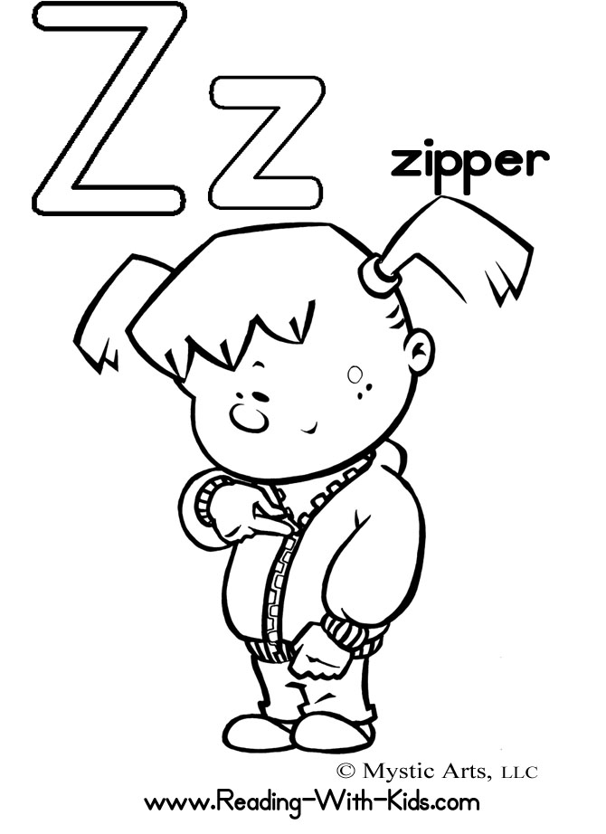 z coloring book pages - photo #49
