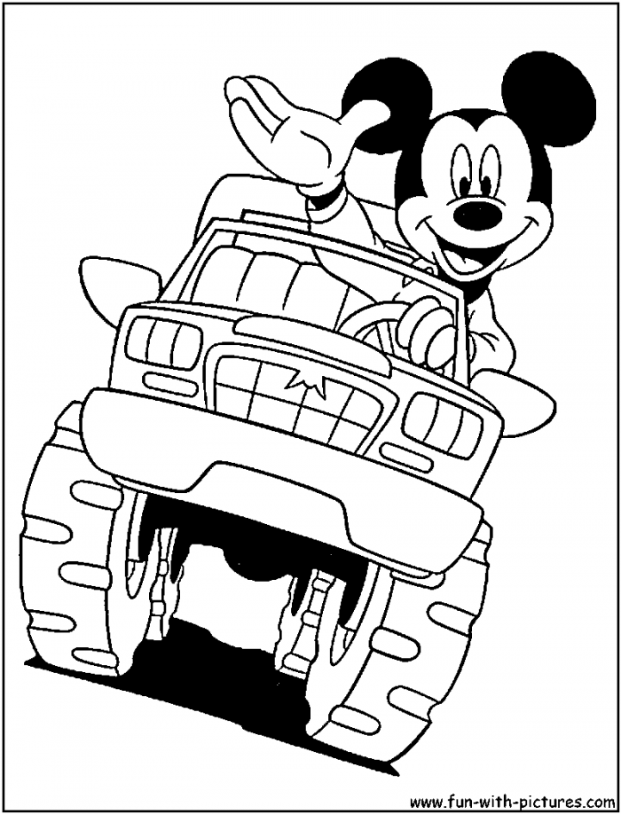 Monster Truck Coloring Pages Printable | 99coloring.com