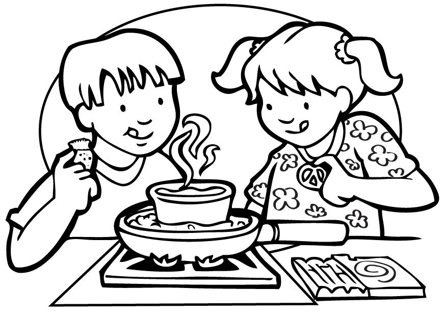 cooking coloring pages - kitchen coloring page coloring home