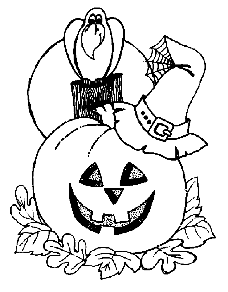 Halloween Pumpkin and Bird Coloring Pages – Free Halloween