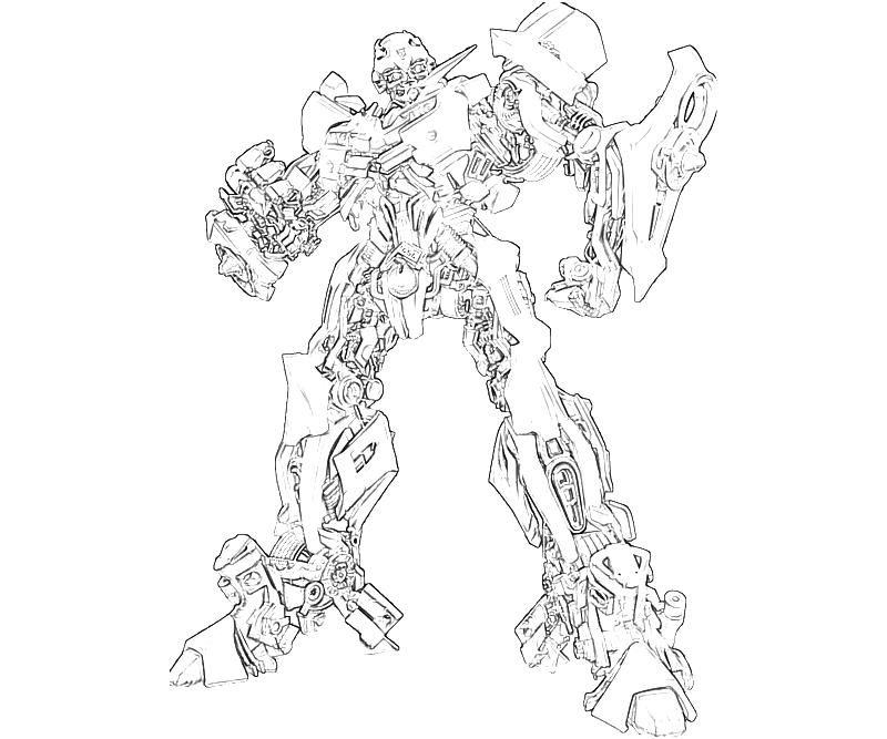 bumble bee transformer coloring pages