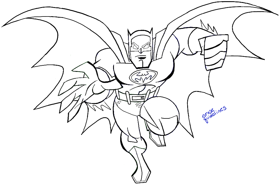 Galerry simple batman coloring page