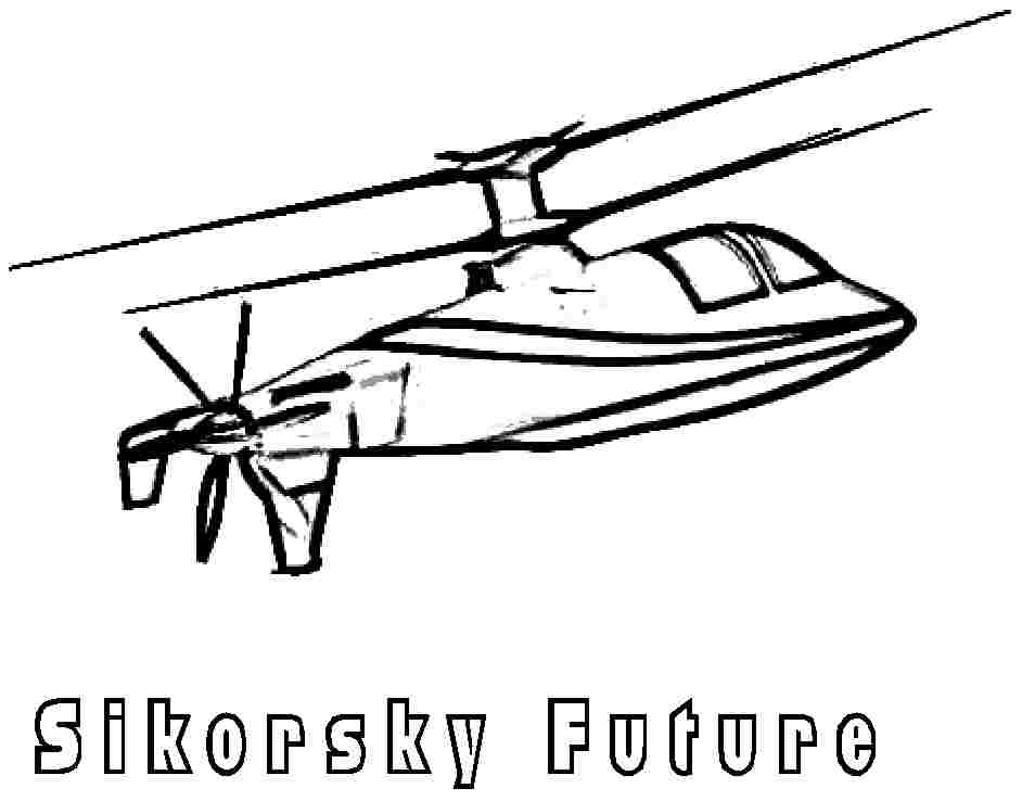 Printable Coloring Sheets Transportation Helicopter For
