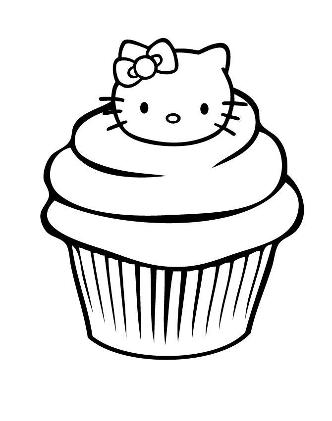 Hello Kitty Baking Coloring Pages : Free coloring pages of large bakery