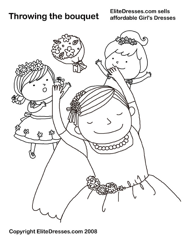 freewedding coloring pages - photo#35