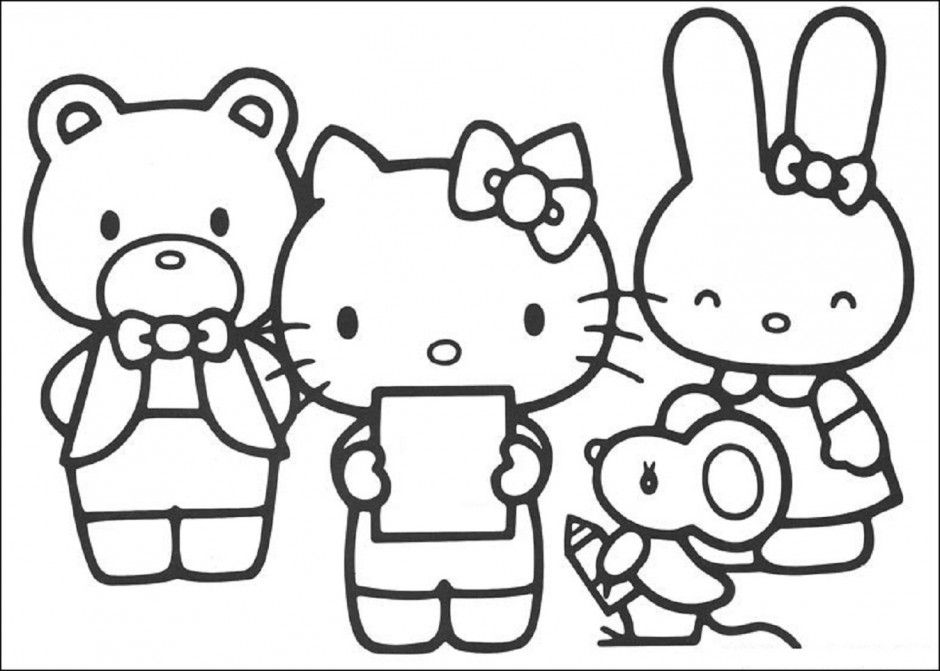 Hello Kitty At Work Coloring Pages 172584 Ramadan