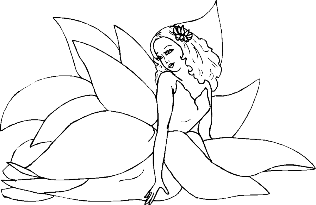 fairy coloring pages for children - photo#19