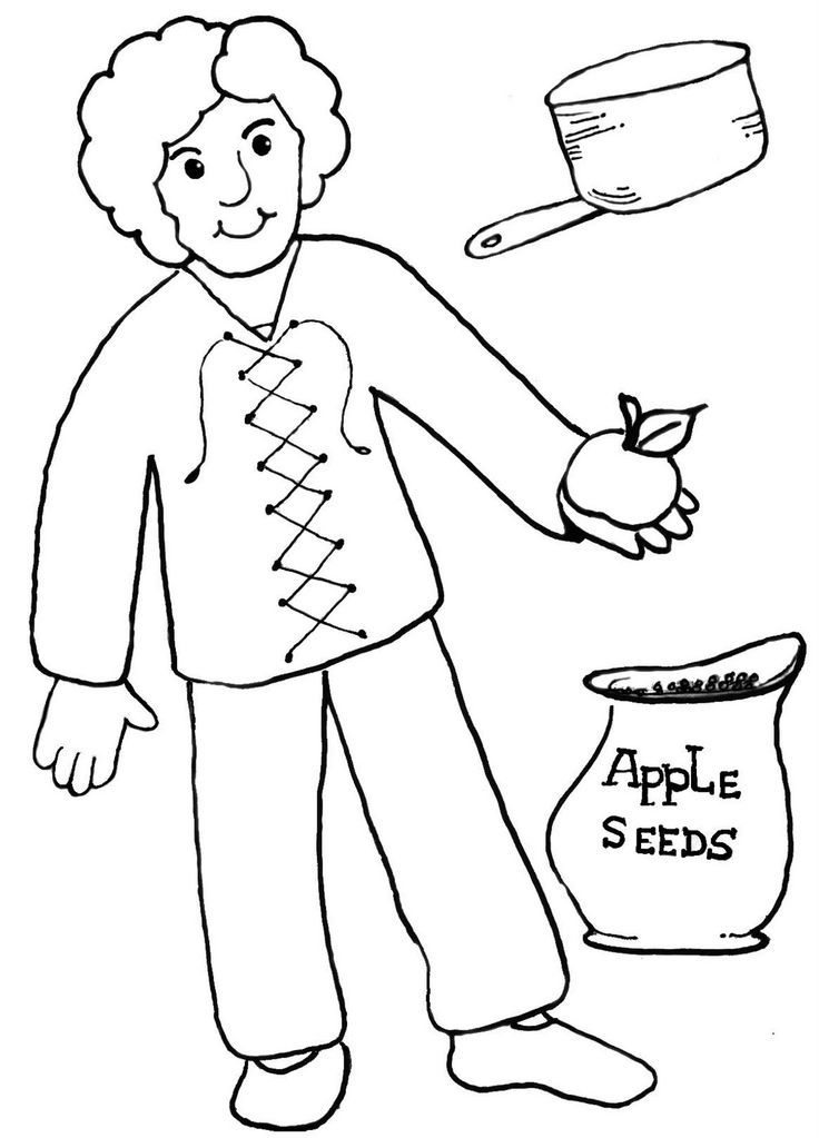 johhny appleseed coloring pages - photo#10