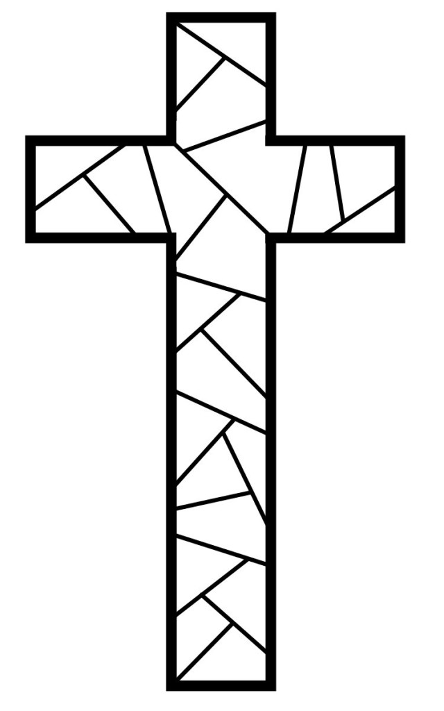 Cross color pages az coloring pages for Coloring pages of cross