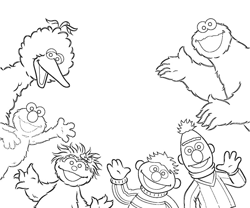 sesame street character coloring pages - photo#9
