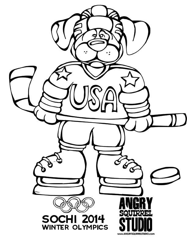 coloring pages winter olympics - photo#31