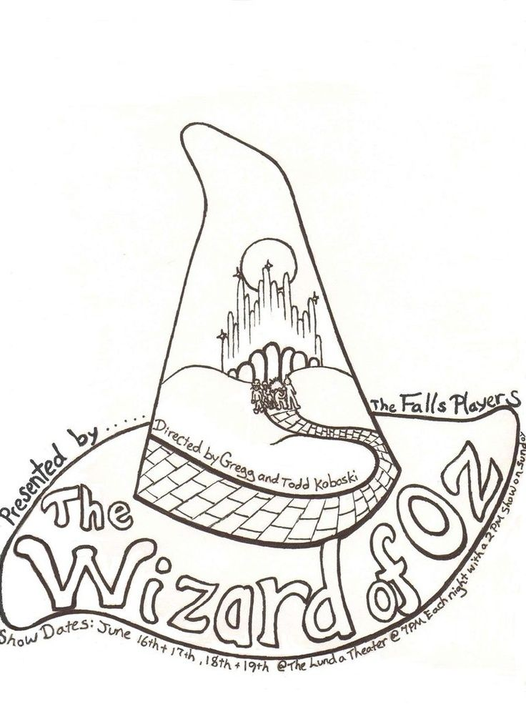 wizard oz coloring pages - photo#3