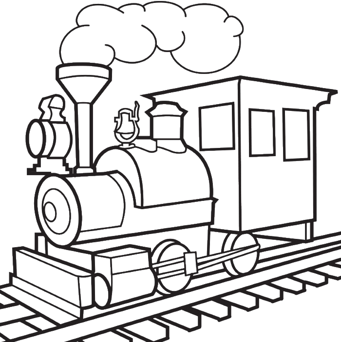 Picture Of A Train Colouring Pages - Coloring Home