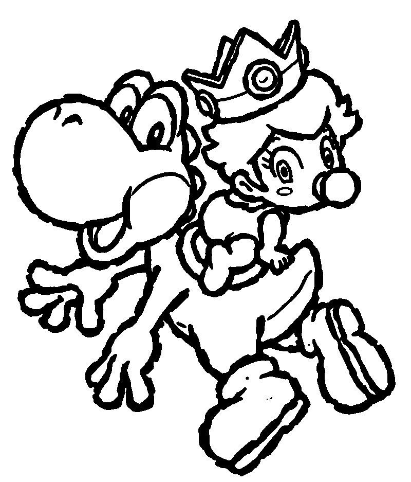 baby mario coloring pages to print - coloring pages of mario characters az coloring pages