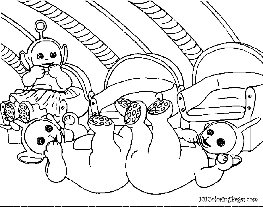 Tinky Winky Coloring Pages Teletubbies Tinky Winky