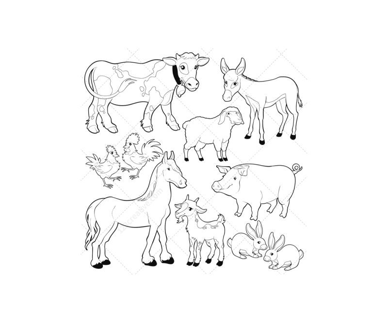 Barn coloring pages free az coloring pages for Barn animals coloring pages