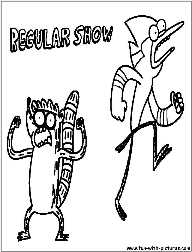 Cartoon Network Coloring Pages Regular Show - Coloring Home